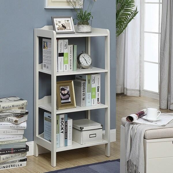 Merveilleux Sadie Grey Wood Small 4 Shelf Office Bookcase