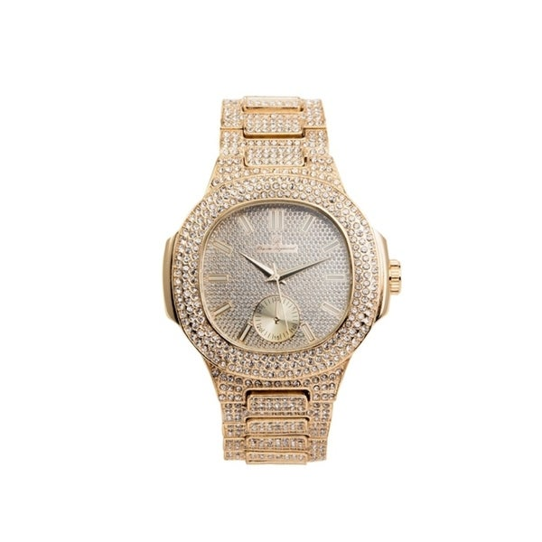 Rappers Favorite Hip Hop Bling Bling Watch - Case and Band Iced Out Mens Watch