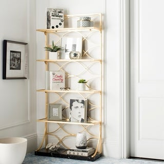 Safavieh Spano 4-Tier Gold Etagere with Marble Base