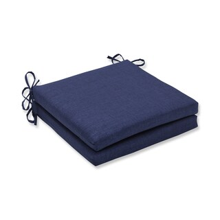 Pillow Perfect Outdoor/Indoor Rave Indigo Squared Corners Seat Cushion 20x20x3 (Set of 2)