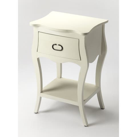 Handmade Butler Rochelle Off White Nightstand (India)