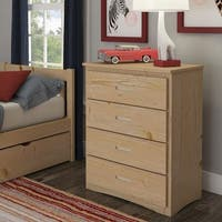 Hunter 4-Drawer Natural Wood Chest by iNSPIRE Q Junior