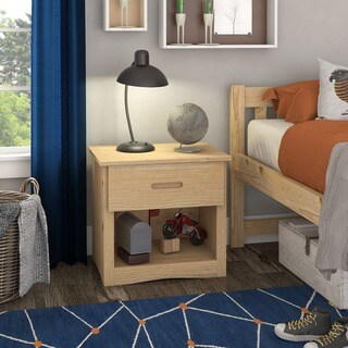 Hunter 1-Drawer Natural Wood Nightstand by iNSPIRE Q Junior