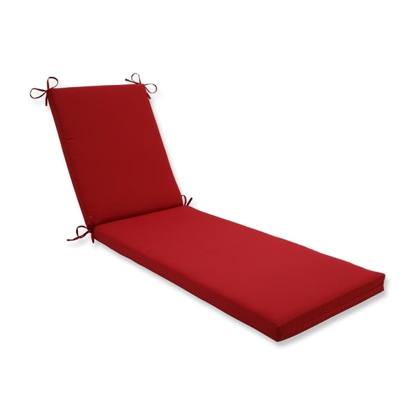 Pillow Perfect Outdoor Indoor Pompeii Red Chaise Lounge Cushion 80x23x3