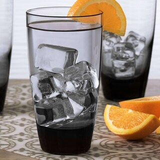 Libbey Classic Smoke 12-piece Cooler Glass Set