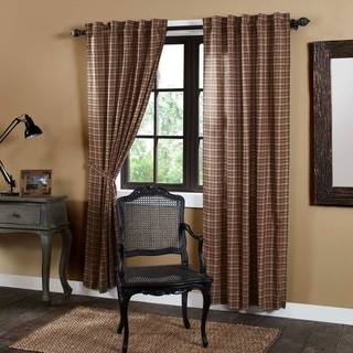 "Crosswoods Lined Curtain Panel Set of 2 - 84"" x 40"""