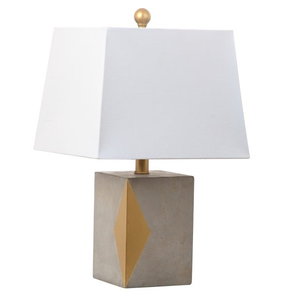 Safavieh Lighting 20.5-inch Royale Grey/ Gold Table Lamp