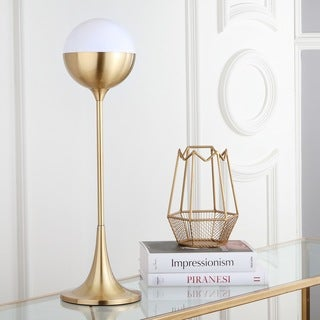 Safavieh Lighting 27-inch Lando Brass Gold Table Lamp
