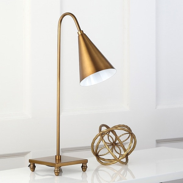 Safavieh Lighting 20-inch Annetta Modern Gold Task Table Lamp