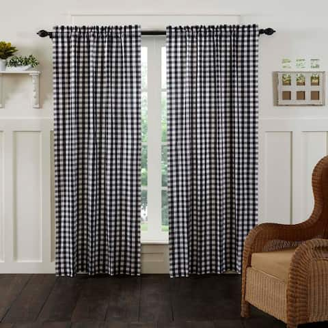 Annie Buffalo Check Lined Curtain Panel Set Of 2