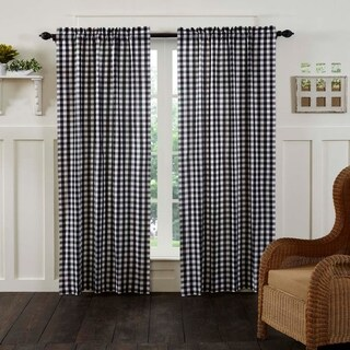 """Annie Buffalo Check Lined Curtain Panel Set of 2 - 84"""" x 40"""" (2 options available)"""