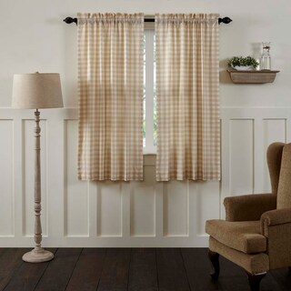 "Annie Buffalo Check Lined Short Curtain Panel Set of 2 - 63"" x 36"""