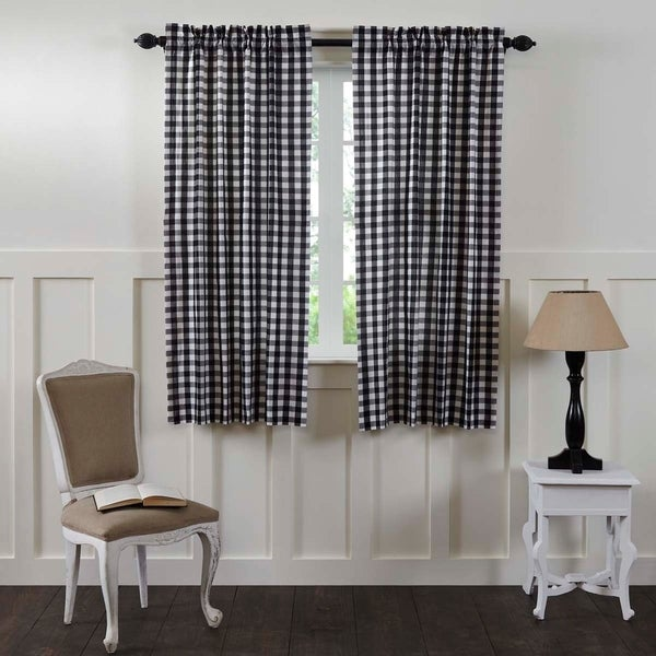 Shop Annie Buffalo Check Lined Short Curtain Panel Set Of