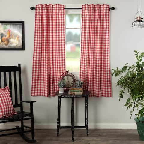 Buy Red Check Curtains Drapes Online At Overstock Our