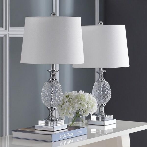 Safavieh Lighting 24.5-inch Fredio Glass Table Lamp (Set of 2)