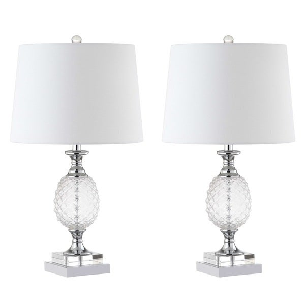 Safavieh Lighting 24.5-inch Fredio Glass Table Lamp (Set of 2)