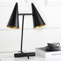 Safavieh Lighting 19.5-inch Ambra Black Task Table Lamp