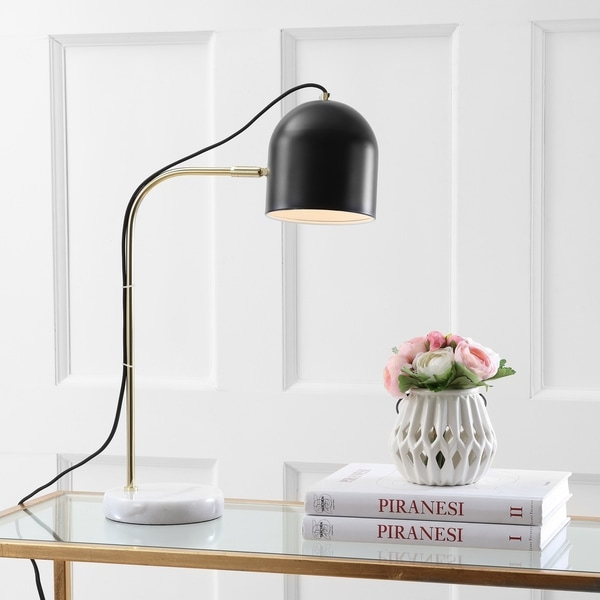Safavieh Lighting 23.5-inch Drina Modern Gold/ Black Task Table Lamp