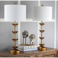 Safavieh Lighting 32-inch Lani Antique Gold Leaf Table Lamp (Set of 2)