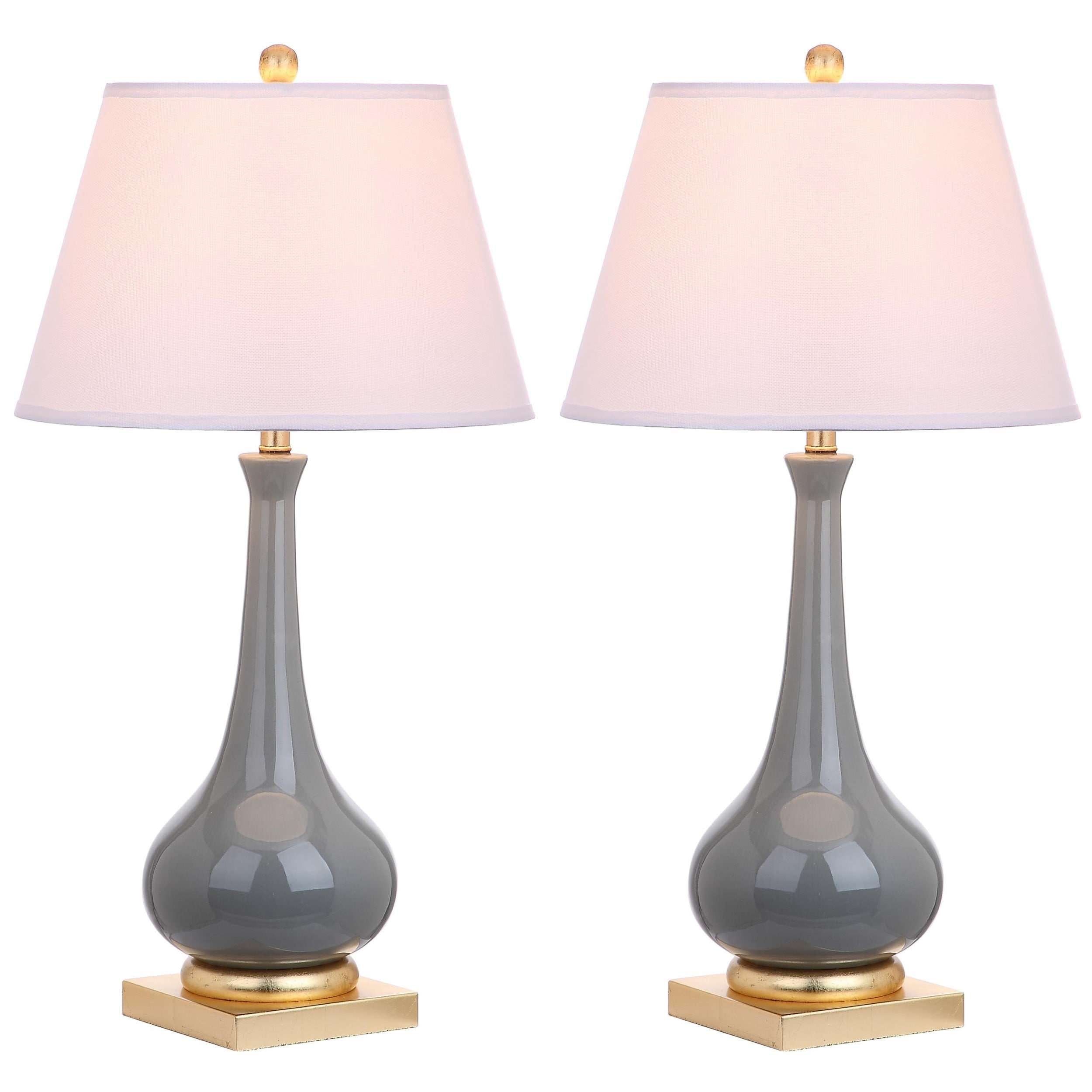 Safavieh lighting 325 inch jolie grey gold leaf table lamp set of safavieh lighting 325 inch jolie grey gold leaf table lamp set of 2 aloadofball Image collections
