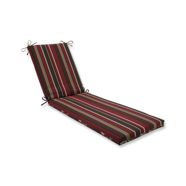 Pillow Perfect Outdoor Indoor Monserrat Montifleuri Sangria Red Chaise Lounge Cushion 80x23x3 Overstock 19481014
