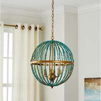 Safavieh Lighting 19-inch Lalita Blue Cage Chandelier