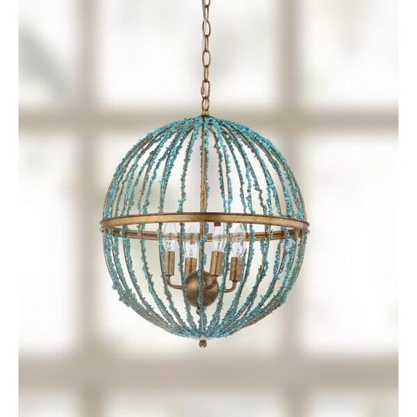 Safavieh Lighting 19-inch Lalita Blue Cage Chandelier