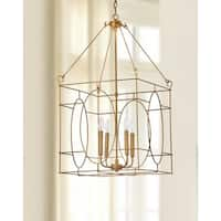 Safavieh Lighting Margot 4-light Gold Adjustable Pendant