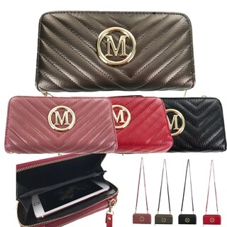 Faddism Quilted Classic Fashion Long Zip-Around Wallet