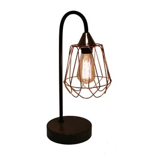 Urban Designs Copper And Wood 20-Inch Table Lamp