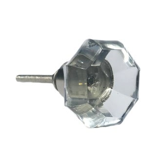 Octagon Clear Glass Knobs - Pack of 6