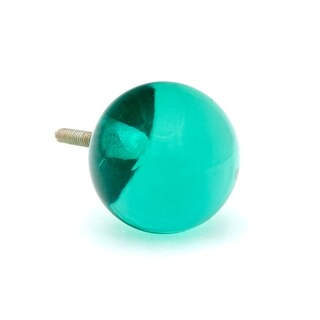 Green Round Glass Knobs - Pack of 6