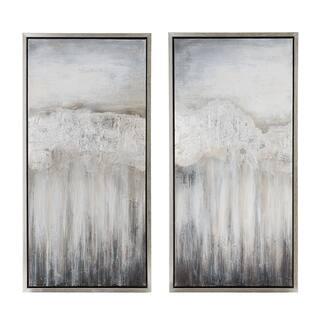 Nightdusk Silver Gallery Wrapped Framed Art (set of 2)