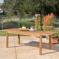 Wilson Outdoor Rectangle Expandable Acacia Wood Dining Table by Christopher Knight Home