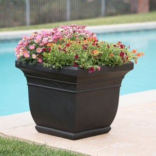 Salinas Outdoor Cast Stone Planter by Christopher Knight Home