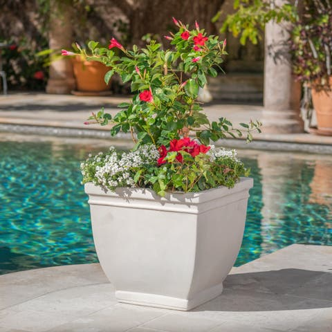 Dylan Outdoor Cast Stone Planter by Christopher Knight Home