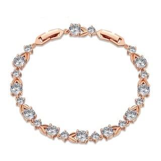 Stylish Design Cubic Zircon Bracelet Rose Gold Vermeil by Kauri Design