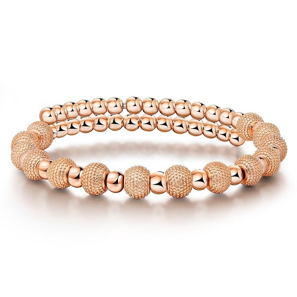 Rose Gold Vermeil Fashion Elegant Beaded Womens Bracelet By Kauri Design