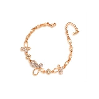 Fine Rose Gold Vermeil Butterfly Charm Chain Bracelet by Kauri Design