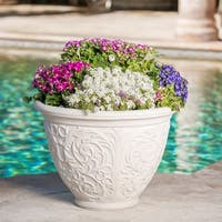 Alton Outdoor Cast Stone Planter by Christopher Knight Home