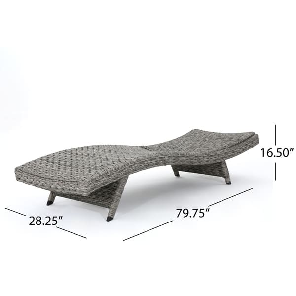 Round Folding Dining Table, Shop Crete Outdoor Armless Aluminum Wicker Chaise Lounge By Christopher Knight Home Overstock 19482287