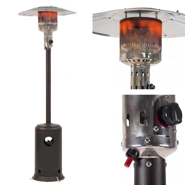 Shop Patio Heater Mocha Garden Outdoor Heater Propane Standing Lp
