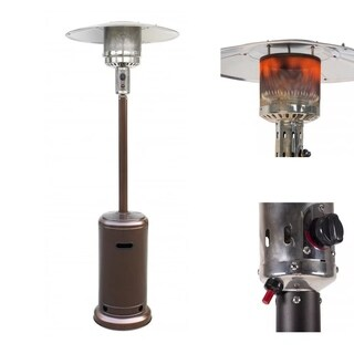 Patio Heater Tall Bronze Garden Outdoor Heater Propane Standing Gas