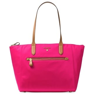 Michael Kors Kelsey Large Top-Zip Ultra Pink Tote Bag