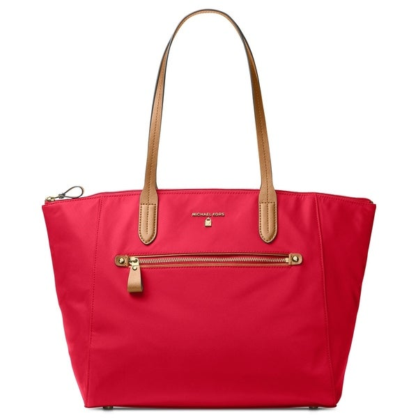 e4c666573 Shop MICHAEL Michael Kors Kelsey Large Top-Zip Tote Bright Red ...