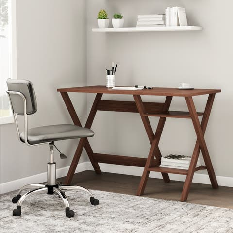 Carson Carrington Tornea Oak Finished Modern Writing Desk
