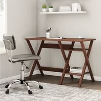Porch & Den Victoria Park Sunrise Oak Finished Modern Writing Desk