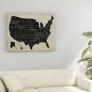 The Gray Barn Pela Studio 'USA Collection Map' Gallery-wrapped Canvas Art