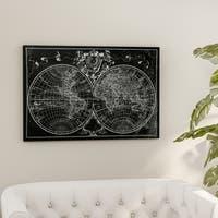 Porch & Den Monde World Map Sketch Canvas Wall Art