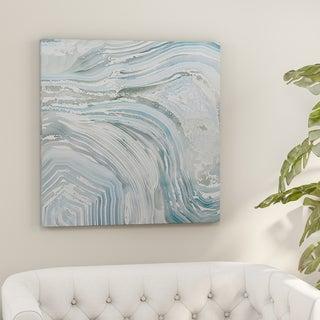 Carson Carrington 'Agate in Blue II' Premium Gallery-wrapped Canvas Wall Art